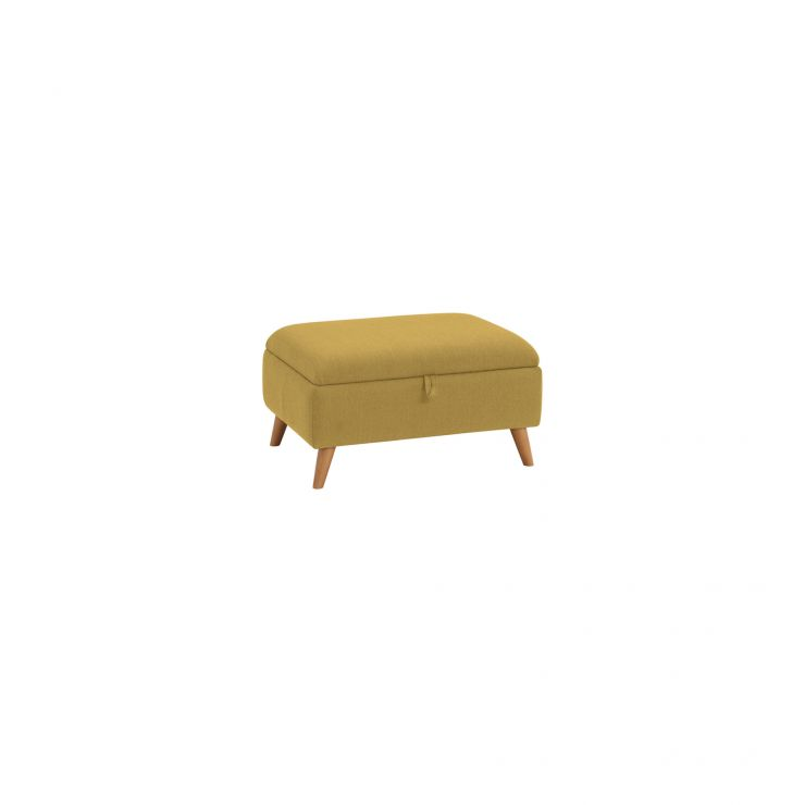 Evie Storage Footstool in Plain Lime Fabric