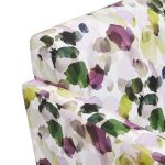Evie Swivel Chair in Patterned Purple Fabric + Charcoal Scatter - Thumbnail 9