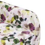 Evie Swivel Chair in Patterned Purple Fabric + Charcoal Scatter - Thumbnail 10