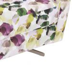Evie Swivel Chair in Patterned Purple Fabric + Charcoal Scatter - Thumbnail 11