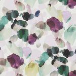 Evie Swivel Chair in Plain Blue Fabric - Thumbnail 13