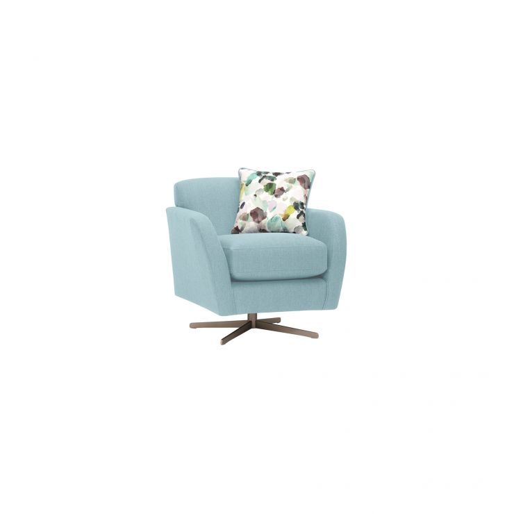 Evie Swivel Chair in Plain Sky Fabric
