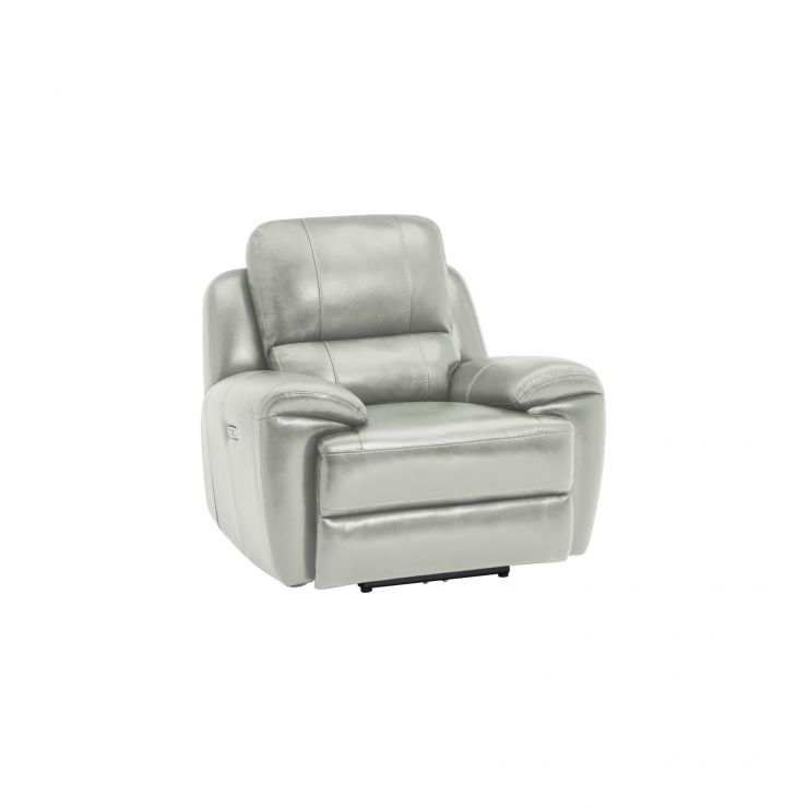 Finley Armchair with Electric Recliner & Headrest - Grey Leather