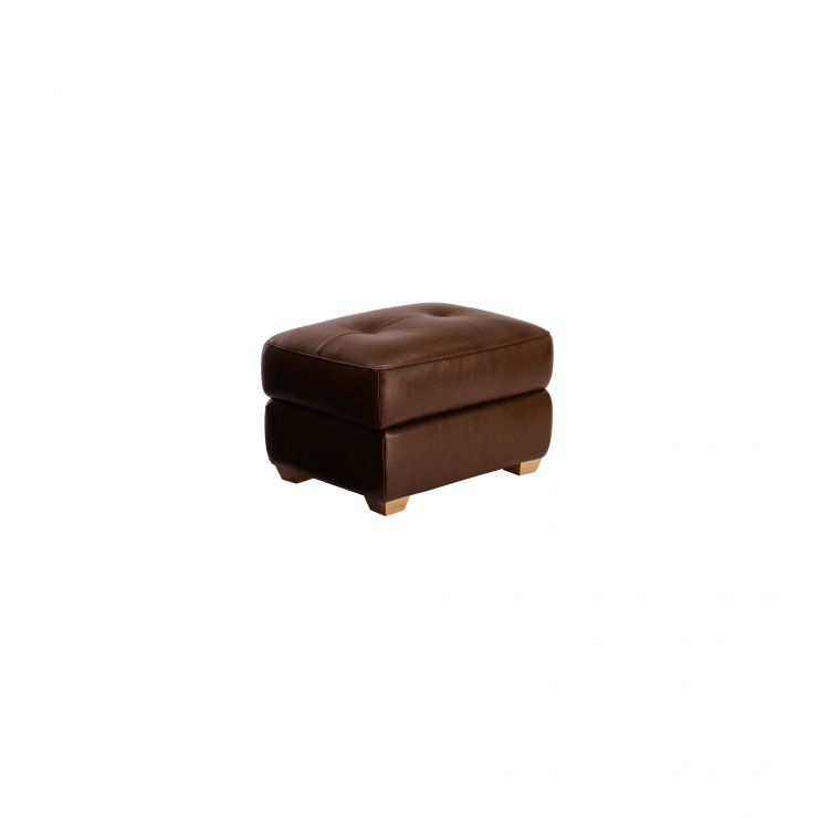 Finley Storage Footstool - Tan Leather