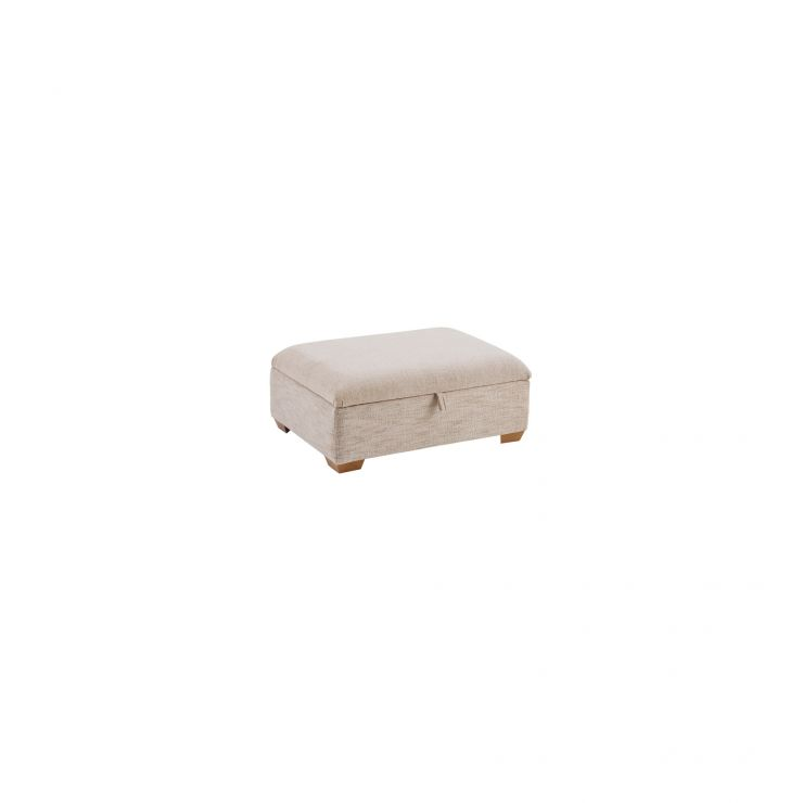 Florence Plain Storage Footstool in Beige - Image 2