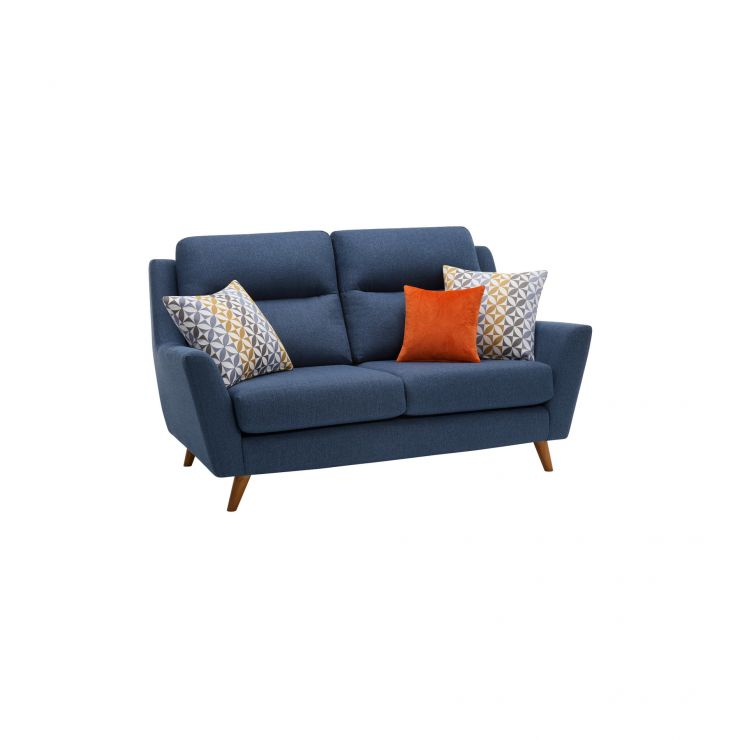 Fraser 2 Seater Sofa in Icon Fabric - Blue - Image 10