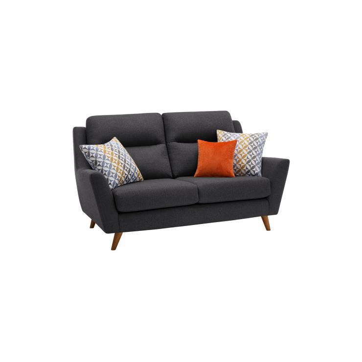 Fraser 2 Seater Sofa in Icon Fabric - Charcoal - Image 10