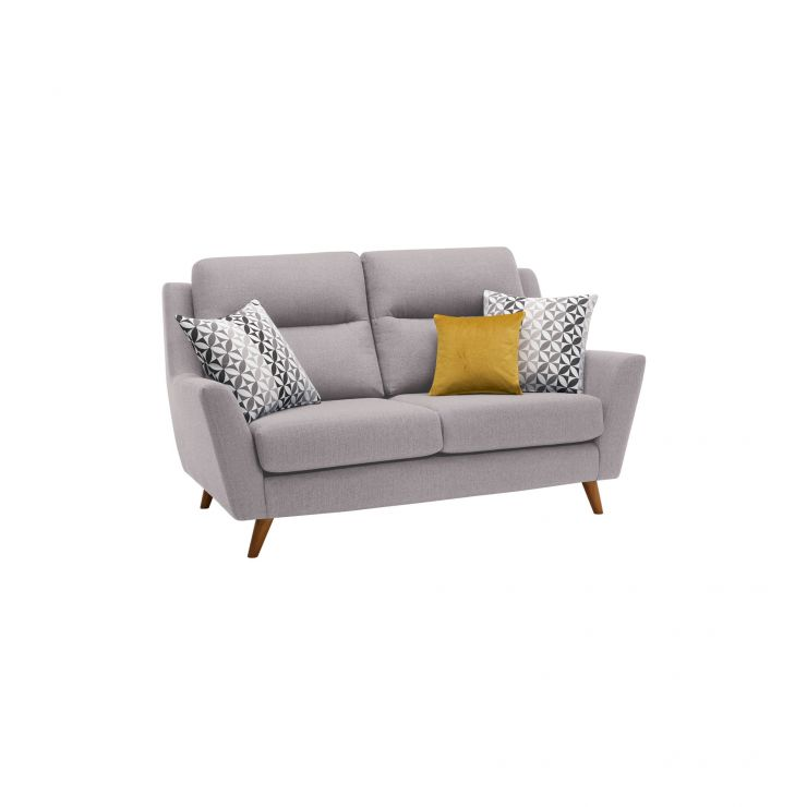 Fraser 2 Seater Sofa in Icon Fabric - Silver - Image 10