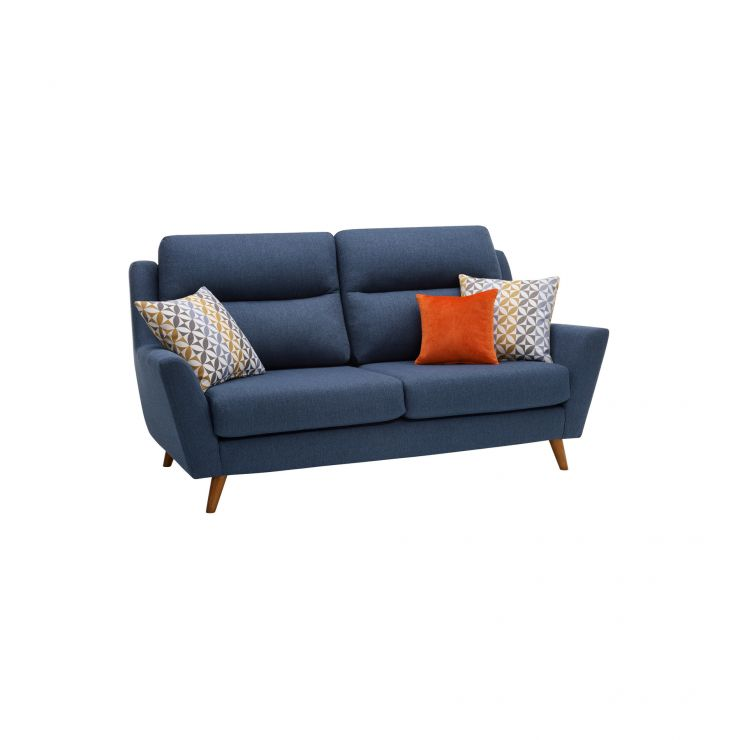 Fraser 3 Seater Sofa in Icon Fabric - Blue - Image 10