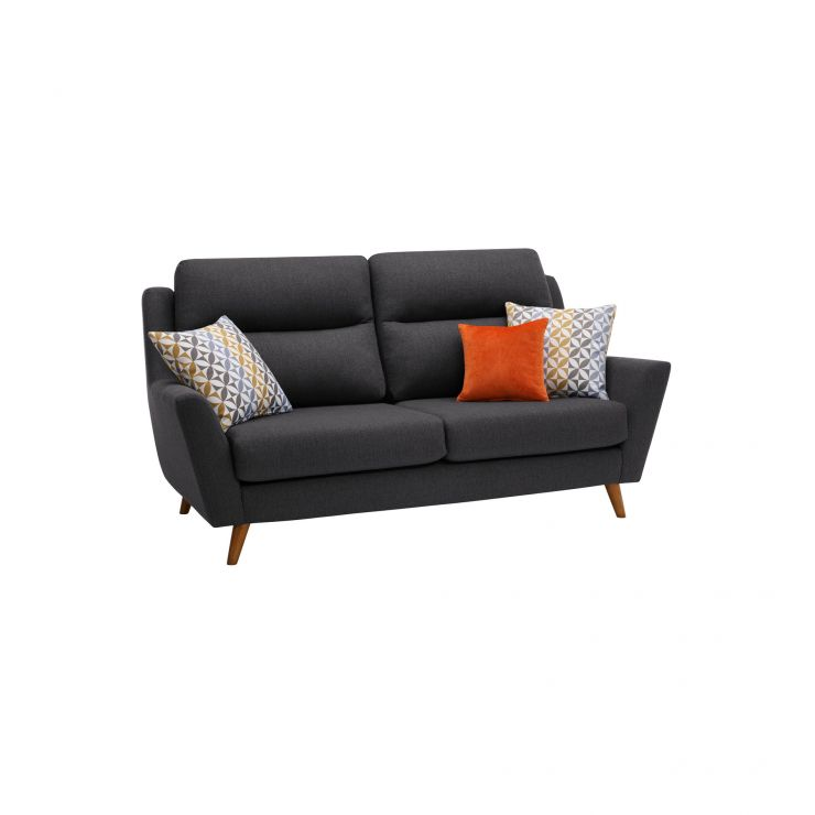 Fraser 3 Seater Sofa in Icon Fabric - Charcoal - Image 10