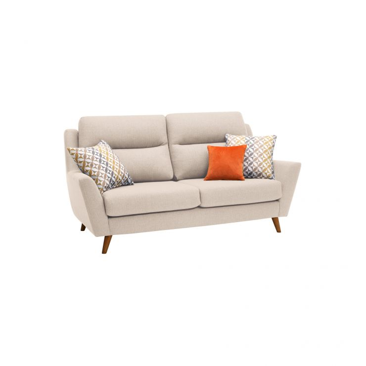 Fraser 3 Seater Sofa in Icon Fabric - Ivory - Image 10