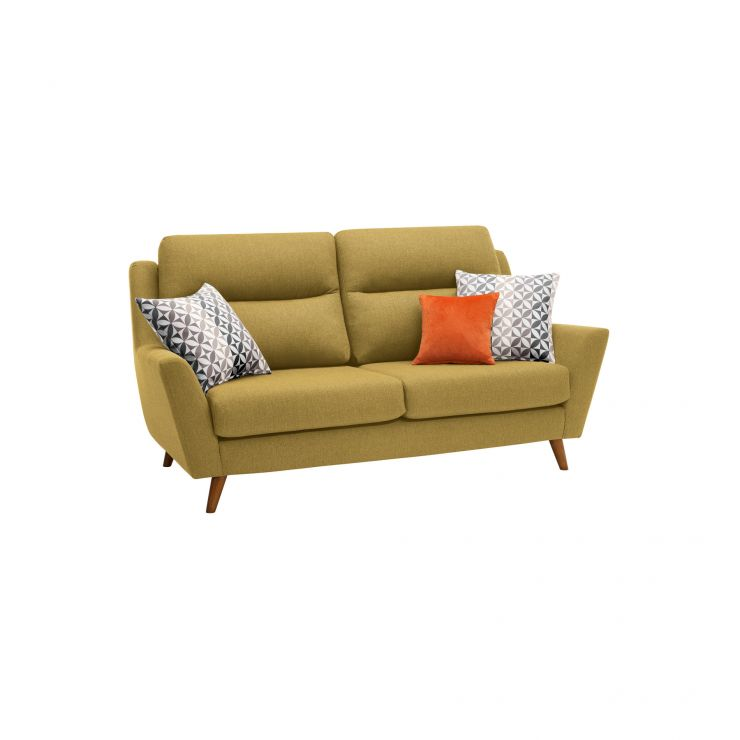 Fraser 3 Seater Sofa in Icon Fabric - Lime - Image 10