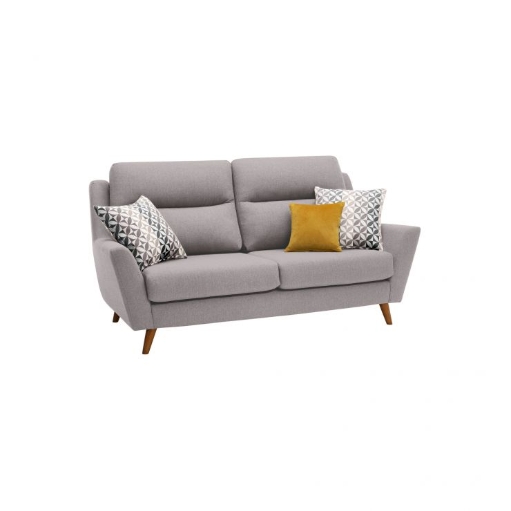 Fraser 3 Seater Sofa in Icon Fabric - Silver - Image 10