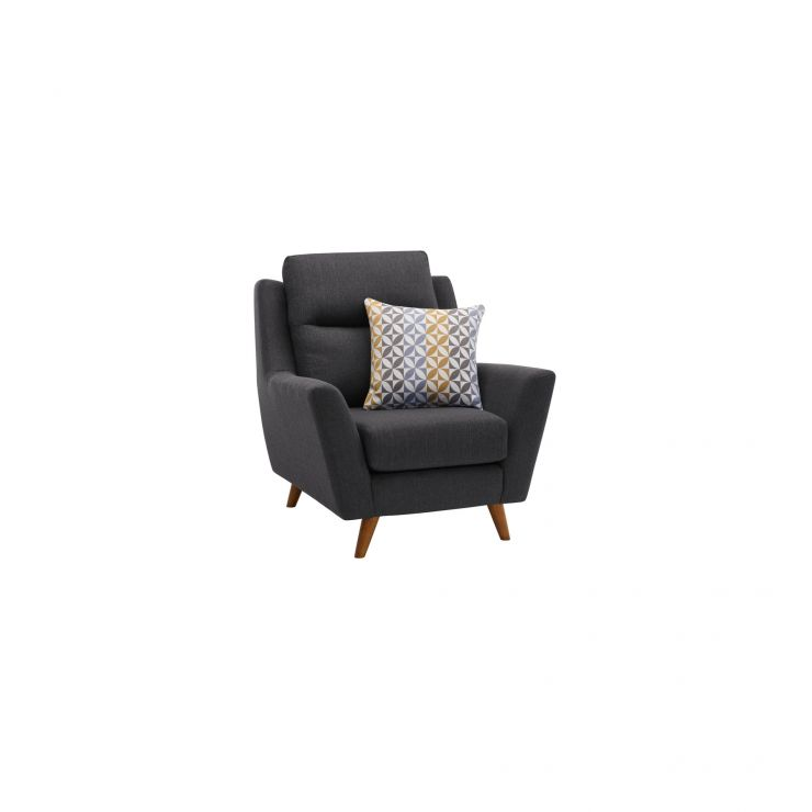 Fraser Armchair in Icon Fabric - Charcoal - Image 1