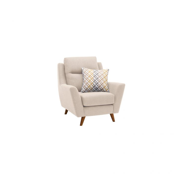 Fraser Armchair in Icon Fabric - Ivory - Image 10