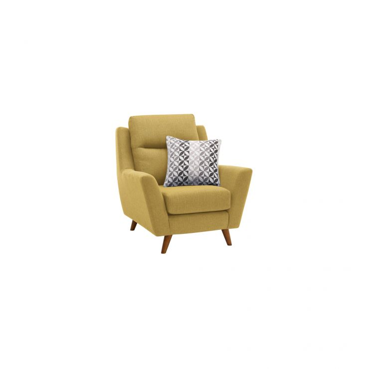 Fraser Armchair in Icon Fabric - Lime - Image 1