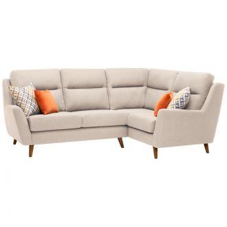 Fraser Left Hand Corner Sofa in Icon Fabric - Ivory
