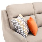 Fraser Left Hand Corner Sofa in Icon Fabric - Ivory - Thumbnail 6