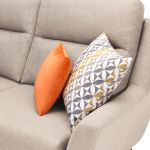 Fraser Left Hand Corner Sofa in Icon Fabric - Ivory - Thumbnail 3