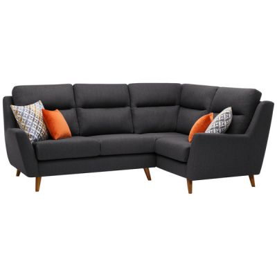 Fraser Left Hand Corner Sofa in Icon Fabric - Charcoal