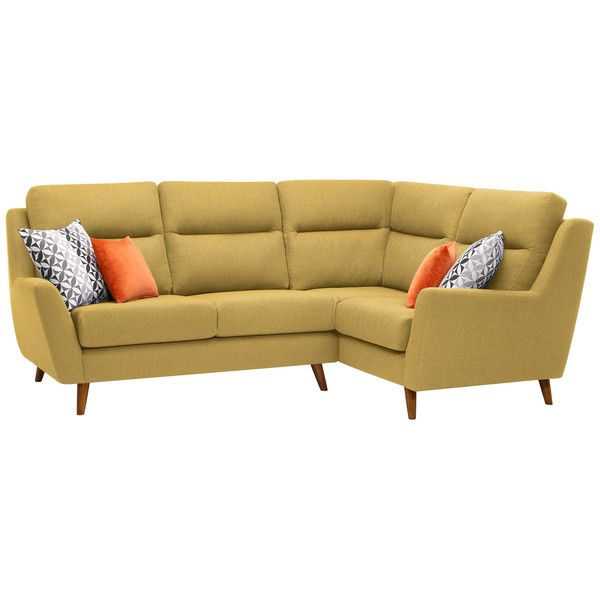 Fraser Left Hand Corner Sofa in Icon Fabric - Lime