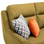 Fraser Left Hand Corner Sofa in Icon Fabric - Lime - Thumbnail 6