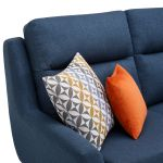 Fraser Right Hand Corner Sofa in Icon Fabric - Blue - Thumbnail 8