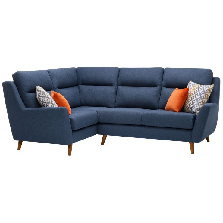 Fraser Right Hand Corner Sofa in Icon Fabric - Blue - Image 10