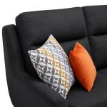 Fraser Right Hand Corner Sofa in Icon Fabric - Charcoal - Thumbnail 6