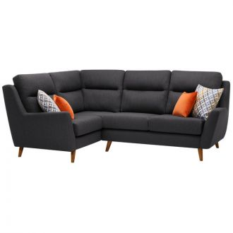 Fraser Right Hand Corner Sofa in Icon Fabric - Charcoal