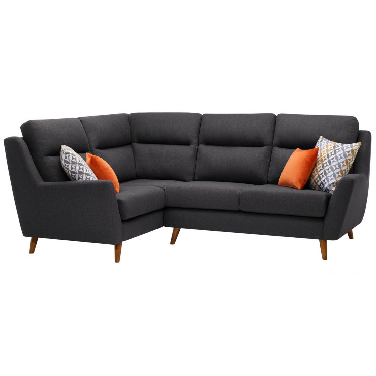 Fraser Right Hand Corner Sofa in Icon Fabric - Charcoal - Image 1