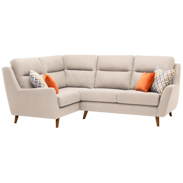 Fraser Right Hand Corner Sofa in Icon Fabric - Ivory - Image 10