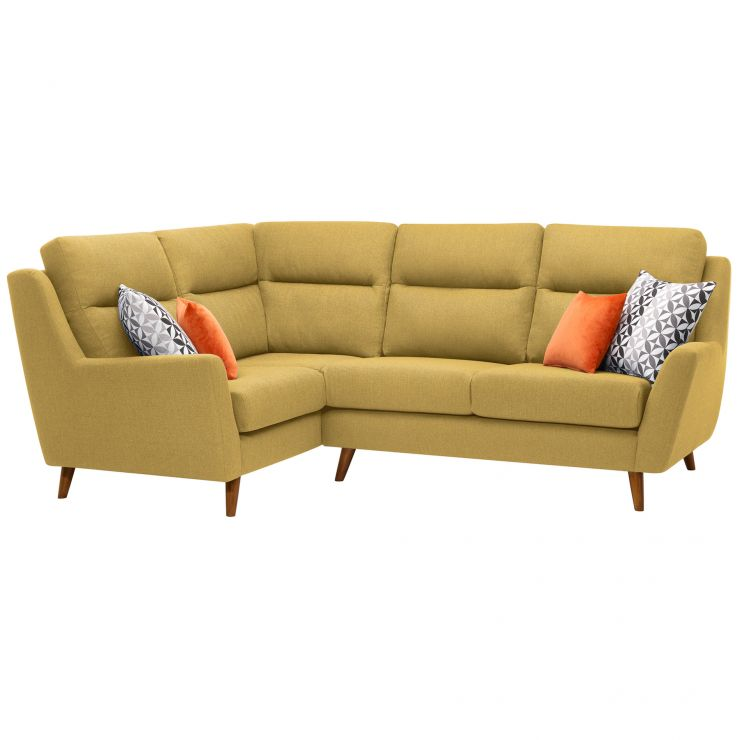 Fraser Right Hand Corner Sofa in Icon Fabric - Lime - Image 10