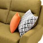Fraser Right Hand Corner Sofa in Icon Fabric - Lime - Thumbnail 4