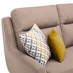 Fraser Right Hand Corner Sofa in Icon Fabric - Mink - Thumbnail 7