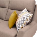 Fraser Right Hand Corner Sofa in Icon Fabric - Mink - Thumbnail 3