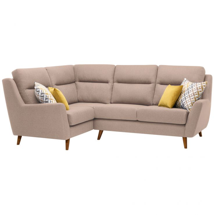 Fraser Right Hand Corner Sofa in Icon Fabric - Mink - Image 10