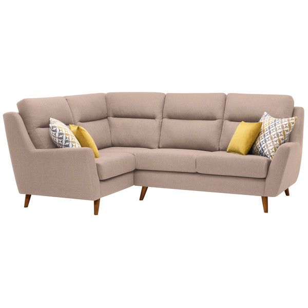 Fraser Right Hand Corner Sofa in Icon Fabric - Mink