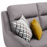 Fraser Right Hand Corner Sofa in Icon Fabric - Silver - Thumbnail 4