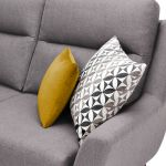 Fraser Right Hand Corner Sofa in Icon Fabric - Silver - Thumbnail 3