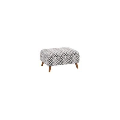 Fraser Storage Footstool in Rosetta Fabric - Charcoal