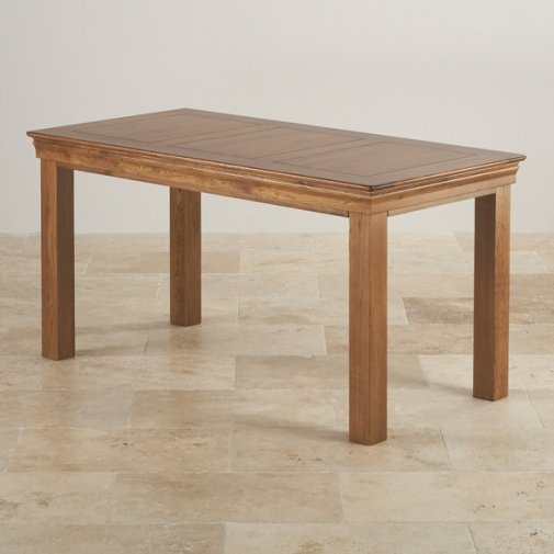 "French Farmhouse Rustic Solid Oak 4ft x 2ft 6"" Dining Table"