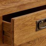 French Farmhouse Rustic Solid Oak 5 Drawer Tallboy - Thumbnail 4