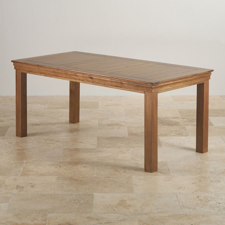 French Farmhouse Rustic Solid Oak 6ft x 3ft Dining Table - Image 4