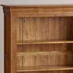 French Farmhouse Rustic Solid Oak Small Bookcase - Thumbnail 3