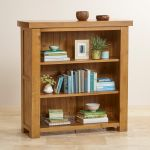 Hercules Rustic Solid Oak Small Bookcase - Thumbnail 4