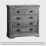 French Farmhouse Rustic Solid Oak 3+2 Drawer Chest - Thumbnail 4