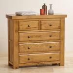 Hercules Rustic Solid Oak 3+2 Drawer Chest - Thumbnail 4