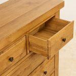 Hercules Rustic Solid Oak 3+2 Drawer Chest - Thumbnail 6