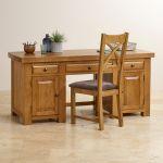 Hercules Rustic Solid Oak Computer Desk - Thumbnail 6